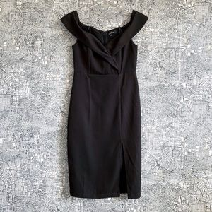 Lulu's Cross Front Off-the-Shoulder Bodycon Dress